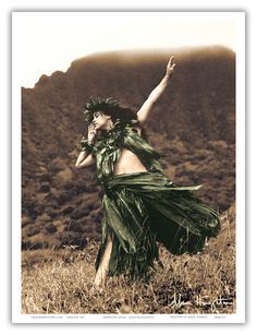 Pacifica Island Art Primitive Hula - Hawaiian Hula Dancer - Original Hand Colored Photograph by Alan Houghton - Hawaiian Master Art Print - 13 x -- Check out this great product. (This is an affiliate link) Hawaiian People, Hawaiian Dancers, Hawaiian Art, Tarzan, Kia Ora, Hawaii Mountains, Polynesian Dance, Polynesian Culture, Polynesian Islands