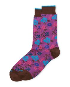 Duchamp Floral Crew Socks