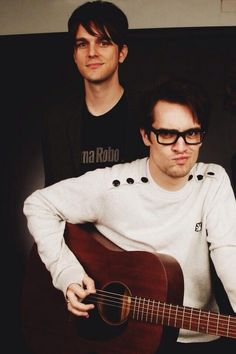 "This board should just be called ""Brendon Urie with Dallon Weekes and little Patrick Stump"""