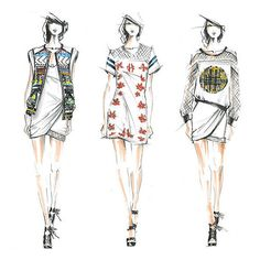 Sketched Out Preview 30 Spring Collections From Fashion Week ❤ liked on Polyvore featuring backgrounds, fillers, sketches, drawings, pictures, doodles, quotes, text, phrase and saying