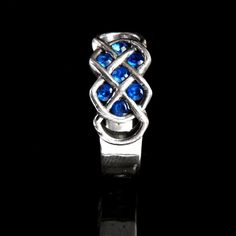 Celtic Blue Sapphire Ring With Infinity Knot by CelticEternity, $135.00