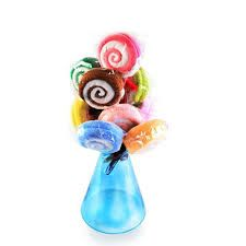 Lollipop Candy Towel Washcloth Wedding Favor Baby Shower Gift Dessert Wrap LP