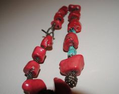 Turquoise Statement Necklace Southwest by ByDivineCollectibles