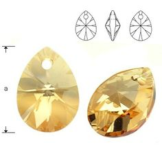 6128 Mini Pear 10mm Golden Shadow  Dimensions: 10,0 mm Colour: Golden Shadow 1 package = 1 piece