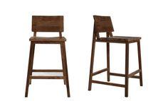 sedia alta da bar moderna in legno massiccio TECK NATHAN 3 Studio emorational, Ethnicraft Style for Projects