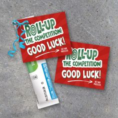 Roll Up The Competition Tags – Pair with Fruit Roll Ups to create a quick and easy Good Luck gift! Great for game day locker treats! Perfect for volleyball, football, basketball, baseball, softball, golf, swimming, hockey, wrestling and more! Printable Instant Download by Studio 120 Underground, $5.