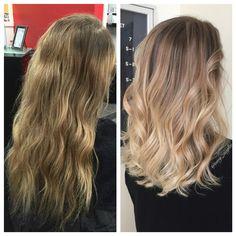 Before&After Blonde Ombre/Balayage/Highlight by @amy_ziegler #askforamy#versatilestrands
