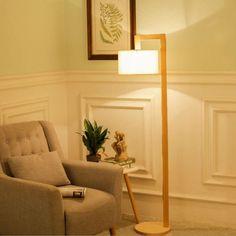 Lantern-style wooden floor lamp—Silvia 63″ Wood Floor Lamp