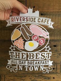 © KyleighsPapercuts 2015 Riverside Cafe, Best Breakfast, Paper Cutting, Inspired, Create, Inspiration, Decor, Biblical Inspiration, Decoration