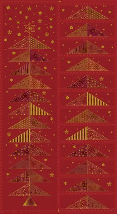 Glimmering by STOF fabrics, advent calender- panel