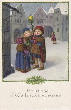 Pauli Ebner (1873-1949) — Old Christmas Post Cards (582x900