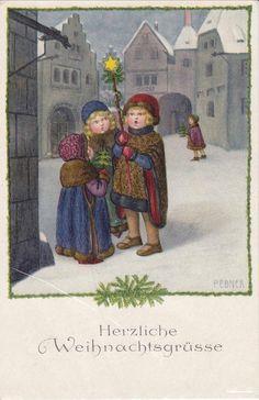 Pauli Ebner (1873-1949) — Old Christmas Post Cards (582x900