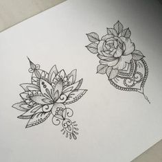 Mandala tattoo designs for women lotus flower and rose - tattoo women - Be inspired with this tatoo: Mandala tattoo designs for women, lotus flower and rose. Find all the - Trendy Tattoos, New Tattoos, Body Art Tattoos, Tattoo Drawings, Sleeve Tattoos, Tatoos, Symbol Tattoos, Tattoo Ink, Tattoos On Ribs