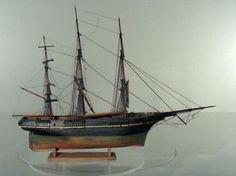 Volmodel (zeemansmodel?) van een klipperfregat, mid 19 century  Maritiem Museum Rotterdam