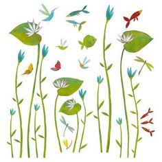 Water-Lilies wall-sticker - by Djeco