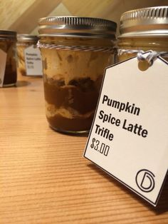 Pumpkin spiced latte trifle