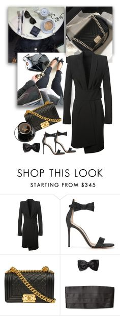 """Tuxedo Cafe"" by jacque-reid ❤ liked on Polyvore featuring Alexandre Vauthier, Gianvito Rossi, Ermenegildo Zegna, Chanel, GianvitoRossi, AlexandreVauthier and montaignemarket"