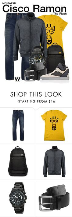 """The Flash"" by wearwhatyouwatch ❤ liked on Polyvore featuring Nudie Jeans Co., NIKE, Tokyo Laundry, Invicta, HUF, Balenciaga, television, wearwhatyouwatch and menswear"