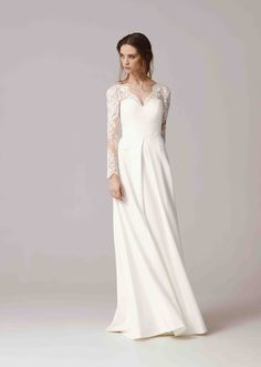 Wedding dress by Anna Kara bridal collection 2016 Wedding Gown A Line, Elegant Wedding Gowns, 2015 Wedding Dresses, Wedding Dress Sleeves, Wedding Bridesmaid Dresses, Perfect Wedding Dress, Cheap Wedding Dress, Bridal Dresses, Anna Kara