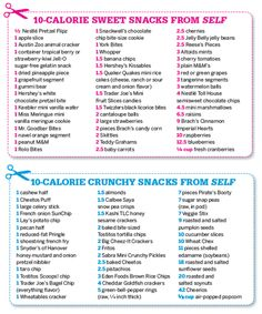 Crunchy/Sweet Low Calorie Snacks