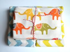 LOVE THE PATTERN. From designer on spoon flower.    Baby Blanket Marching Elephants Organic Cotton by littlehipsqueak, $31.65