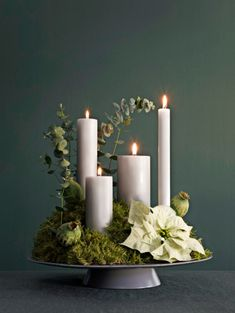 25 Advent wreaths you can make yourself - Alexandra Fischer - Picb 25 adventskranse du selv kan lave – Alexandra Fischer – Picbilder- Wir Für Bilder 25 Advent wreaths you can make yourself – Alexandra Fischer – to - Christmas Advent Wreath, Noel Christmas, White Christmas, Christmas Crafts, Advent Wreaths, Christmas Tables, Nordic Christmas, Modern Christmas, Christmas Ideas