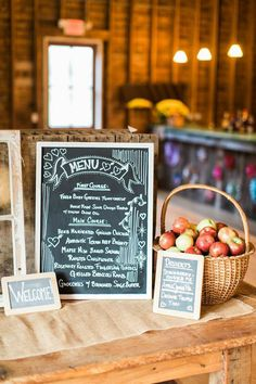 Casual New York Wedding at The Inn at West Settlement from Fabrice Tranzer - wedding menu idea