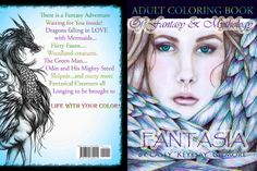 Adult Coloring Book Digital Fantasia Fantasy by KeyesaysVisualArt