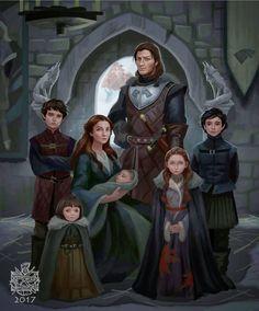Stark Family circa 290 AC #GameofThrones