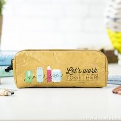 """Pencil case """"Let's work together!"""" (ENG) - Pencil cases - Stationery"""