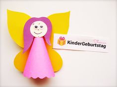 Fee basteln aus Papier: Schritt-für-Schritt-Anleitung für die Kinder Jouer, Decoration, Christmas Ornaments, Holiday Decor, Guide, How To Make, Children, Drawing Rooms, Fairy