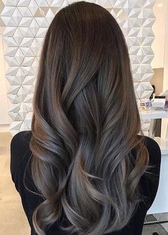 Ash brown hair, hair color for brown skin, hair highlights, hair color balayage Brown Ombre Hair, Ombre Hair Color, Hair Color For Black Hair, Grey Ombre, Subtle Ombre, Brown Blonde, Hair Colour, Wavy Hair, Dyed Hair