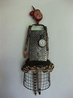 Chari Peak, Assemblage Art @Suzy Mitchell Fellow Waguespack by delia