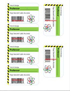This is a digital product. You will get a PDF that contains 1 page with 6 badges each. These Science ID badges are such a fun favor and addition for your young scientists party or mad science party. Print one ID badge for each kid and you can put them in name badges with clips or