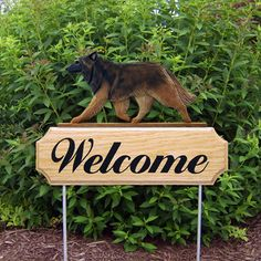 Belgian Tervuren Welcome Sign Stake Home, Yard & Garden Dog Products & Gifts