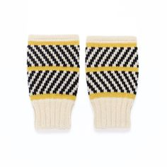 Short Mittens Lizzie - Fingerless gloves made of merino wool, black and white stripe design - wrist warmers knitted by MARGOT & ME Mitten Gloves, Mittens, Nylons, Stripes Design, Fingerless Gloves, Merino Wool, Knitwear, Black And White, Trending Outfits