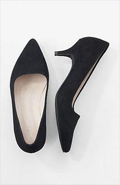 Kitten-heel pumps   www.jjill.com
