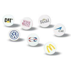 Golf ball marker. These attractive ball markers are a must for every golfer who hits the golf course. A perfect idea for corporate golf outings.