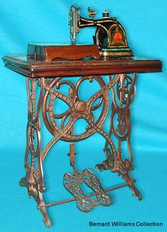European sewing machine, love the feet shaped pedals