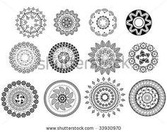 Henna Abstract Mandala Design Stock Vector 33930970  Shutterstock