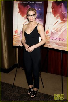 Jennifer Morrison Wears One-Shoulder Jumpsuit at 'Tulip Fever' NYC Screening
