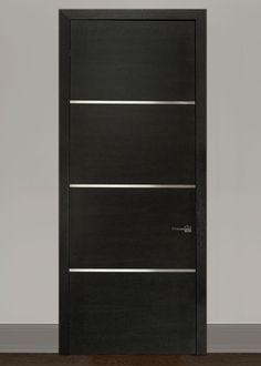 Modern Rift-Cut Oak Solid Wood Front Entry Door - Single - GDIM-SS4000