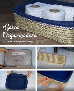 DIY - CAIXA ORGANIZADORA - Casinha Arrumada
