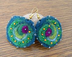 felted earrings - Google Search