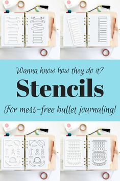 These are so easy to use. I just take a fine tipped pen to create my monthlies and weekly spreads. The clear plastic ensures I know exactly where I am on the page. Easy peasy pretty bullet journaling! #bulletjournaling #affiliatelink #journaling #handlettering #bujo
