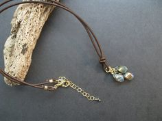 Hey, I found this really awesome Etsy listing at https://www.etsy.com/listing/178447020/gemstone-leather-necklace-labradorite