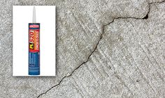 Cracks in your driveway are unattractive, and over time, water and ice can make them worse.    Sealing these cracks doesn't have to be a messy or time-consuming project, however. With a siliconized-latex concrete caulk you can simply fill the crack or expansion joint with a caulking gun. Popular brands include Loctite, DAP and Red Devil. The caulk is self-leveling, so no further tooling is required to form a smooth joint.    Cost: 6 dollars
