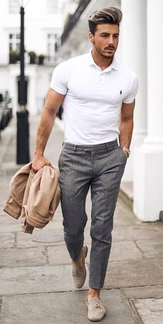 men's style trends you should undoubtedly try 28 is part of Mens fashion - men's style trends you should undoubtedly try 28 Best Mens Fashion, Mens Fashion Suits, Business Casual Men, Men Casual, Smart Casual Menswear, Polo Shirt Outfits, Formal Men Outfit, Smart Casual Outfit, Man Style
