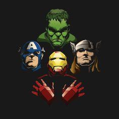 Awesome 'Avengers+Rhapsody' design on TeePublic!