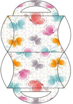 Caja almohada mariposas
